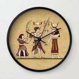 Calling to the Gods Egyptian Folk Art Wall Clock