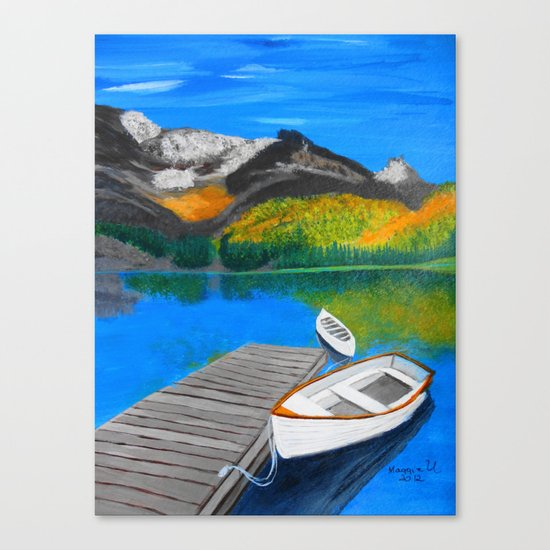 Summer day on the lake  Canvas Print