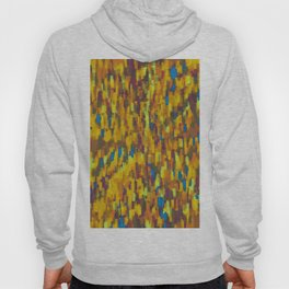 yellow blue and brown drawing and painting geometric square pattern background Hoody
