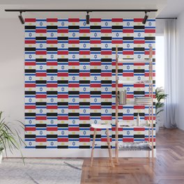 Mix of flag : Israel and Egypt Wall Mural