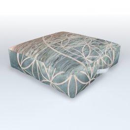 Mandala Flower of Life Sea Outdoor Floor Cushion