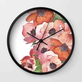 Flowers illustration Wall Clock