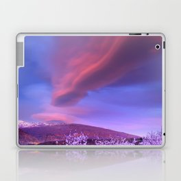 Lenticular clouds over Sierra Nevada and almonds Laptop & iPad Skin
