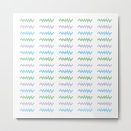 Simple geometric stripe art Metal Print