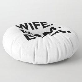 Wife Mom Boss Floor Pillow