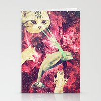 saga Stationery Cards featuring Galactic Cats Saga 2 by Carolina Nino