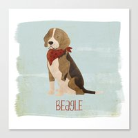 beagle Canvas Prints featuring Beagle by 52 Dogs