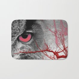 Pink-Eyed Owl & the Fanciful Forest Bath Mat
