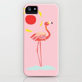 A Flamingo is a Handful iPhone Case