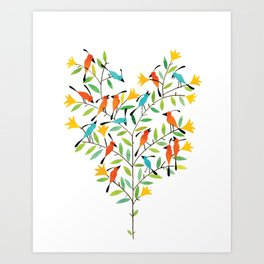 lovebirds Art Print