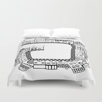 street Duvet Covers featuring Street by JessicArt
