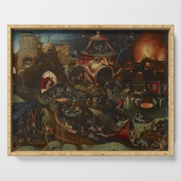 CHRIST IN LIMBO - HIERONYMUS BOSCH  Serving Tray