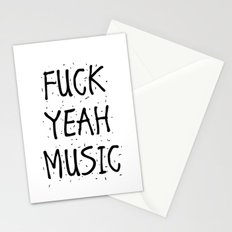 F*CK YEAH MUSIC Stationery Cards