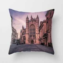 Bath Somerset Abbey yard  Throw Pillow