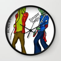 led zeppelin Wall Clocks featuring Led Zep by Pattavina