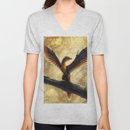 Archaeopteryx Lithographica Commission Unisex V-Neck