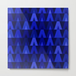 ABSTRACT TRIANGLES | cobalt blue Metal Print