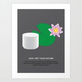 HIMYM Couples - Lily & Marshall Art Print