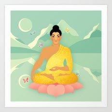 Sacred World: Golden Yogi Art Print