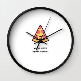 JUST A PUNNY PIZZA JOKE! Wall Clock