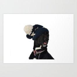 Rudy in Ski Hat Art Print