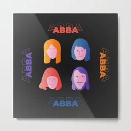 ABBA Illustration Metal Print