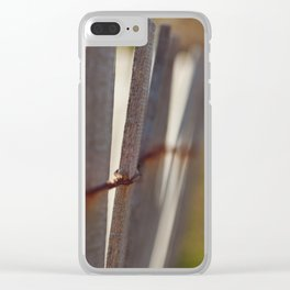 Picket Fence Clear iPhone Case