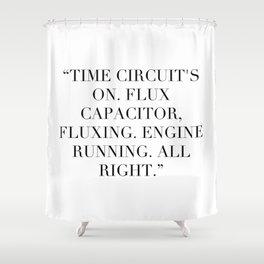 Flux Capacitator Shower Curtain