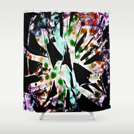 Tie dyed Magpi Shower Curtain