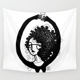 femme à lunettes. Wall Tapestry