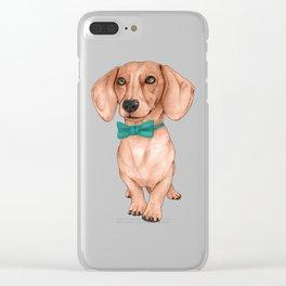 Dachshund, The Wiener Dog Clear iPhone Case