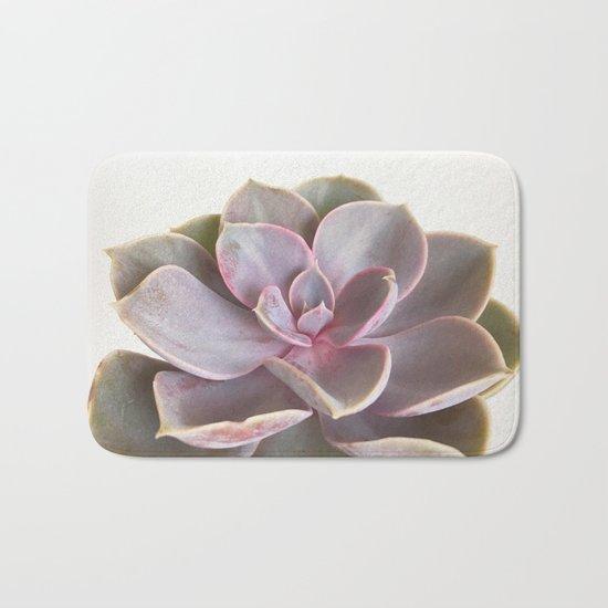 Purple Succulent Bath Mat