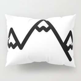 Snowy Mountains Logo Pillow Sham