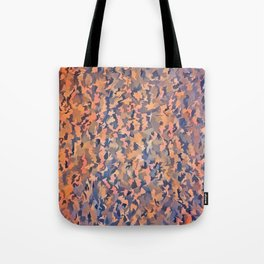 Abstract Seamless Shagpile Pale Blue and Peach Tote Bag