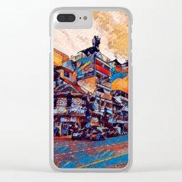 Corner shop stacks Clear iPhone Case
