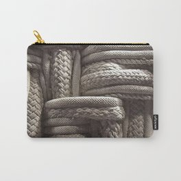 Rope, Texture, Cream, Weaved Carry-All Pouch
