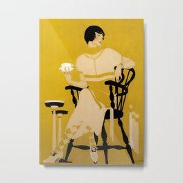 "Coles Phillips 'Fadeaway Girl' Dinnerware Ad ""A Cup Of Tea"" Metal Print"