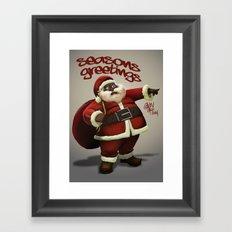 Chocolate Santa Framed Art Print