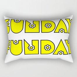 Sunday Funday design for fun people Rectangular Pillow