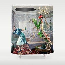 Mantis Encounter Shower Curtain