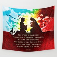 scripture Wall Tapestries featuring We Have Seen His Glory! by Peter Gross