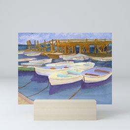 Kittery Point Maine Boat Yard Mini Art Print