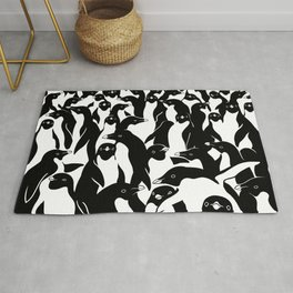 meanwhile penguins Rug