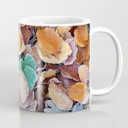 Icy Autumn Leaves Coffee Mug