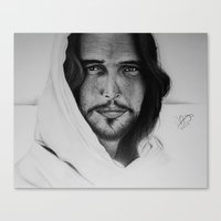 christ Canvas Prints featuring Christ by Michela Adjei