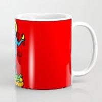 keith haring Mugs featuring Shiva Keith Haring Tribute by Tshirtbaba