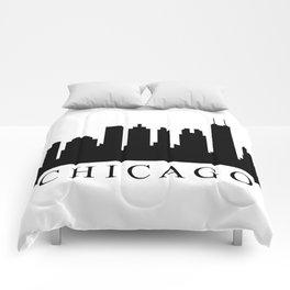 chicago skyline Comforters