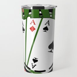 Poker Gift Cards Game Full House As King Travel Mug