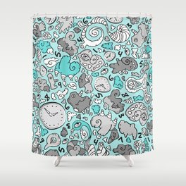PLAYTIME_BLUE Shower Curtain