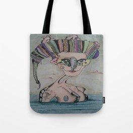 Woman in the sea Tote Bag